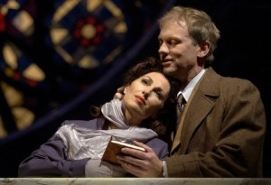 The opera The End Of The Affair by Jake Heggie in Houston, 2004. Cheryl Barker & Teddy Tahu Rhodes