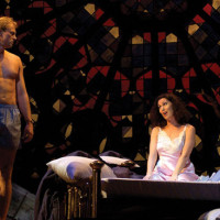 The opera The End Of The Affair by Jake Heggie at Houston Grand Opera, 2004. Teddy Tahu Rhodes & Cheryl Barker.