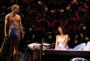 The opera The End Of The Affair by Jake Heggie in Houston. Teddy Tahu Rhodes & Cheryl Barker.