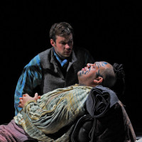 The opera Moby-Dick at The Dallas Opera, 2010 by Jake Heggie. Stephen Costello & Jonathan Lemalu.