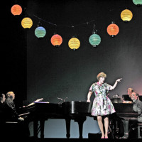 Three Decembers at Houston Grand Opera, 2008. Patrick Summers, Frederica Von Stade & Jake Heggie. Photo Brett Coomer