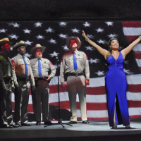 Great Scott by Jake Heggie at The Dallas Opera, 2015. Ailyn Pérez & Members of the The Dallas Opera Chorus