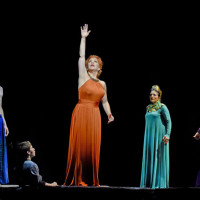 Great Scott by Jake Heggie at The Dallas Opera, 2015. Michael Mayes, Mark Hancock, Joyce DiDonato, Ailyn Pérez & Rodell Rosel